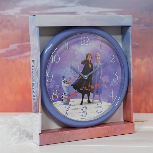 Disney Frozen 2 Wall Clock featuring Anna & Elsa Children's Bedroom Gift